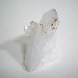 チベット産ヒマラヤ水晶クラスター 1点物 (cluster-65 酸化鉄入り/約48.5g)/天然石・置き物/ポスト投函配送不可