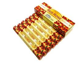 お香 レッドローズ香 スティック /TULASI RED ROSE/インセンス/インド香/アジアン雑貨(6箱セット!ポスト投函配送選択で送料無料/他商品同梱不可です!)