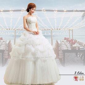 結婚式ドレス ウェディングドレス チューブトップ 発表会ドレス 演奏会ドレス プリンセスドレス お呼ばれ ドレス ステージドレス パーティドレス 楽器演奏 声楽 忘年会 司会 ピアノ レースアップ