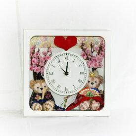 【送料無料】【ひな祭り】【初節句】贈り物に♪ダッフィー&シェリーメイのお雛様花時計【グッズ】*gift-111