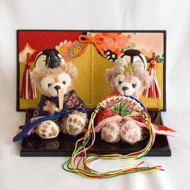 【送料無料】【雛人形】贈り物に♪ぼんぼり&屏風付き・ストラップサイズぬいぐるみ・お雛様ペア飾り【グッズ】*hina-bonbori-3(梅)±∞