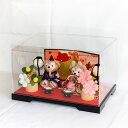 贈り物に♪ぼんぼり&屏風付き・ダッフィー シェリーメイ・お雛様ペア飾り(人形ケース付き)雛人形 ひな人形 ひな…