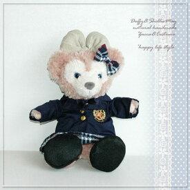 【ゆうパケットOK】 ダッフィー コスチューム グッズ シェリーメイ パペットサイズ 女の子制服(エンブレムジャケット) uf3-hp-girl 洋服 Duffy グッズ