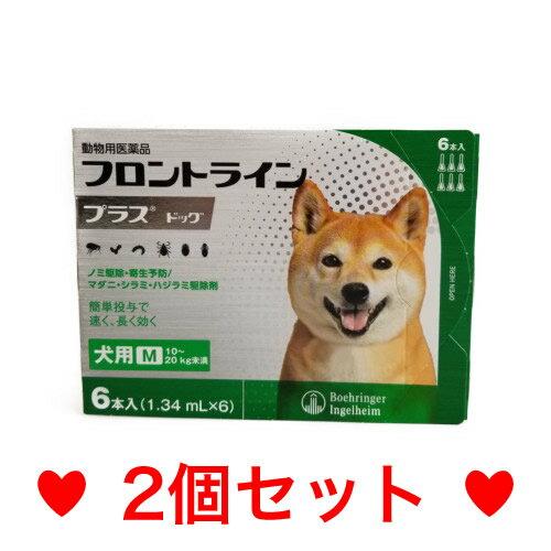 ◎◎【メール便・送料無料】犬用 フロントラインプラス M(10〜20kg未満)6本入 [2個セット]