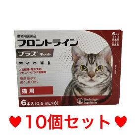 ◎【宅急便・送料無料】猫用 フロントラインプラス 6本入 [10個セット]