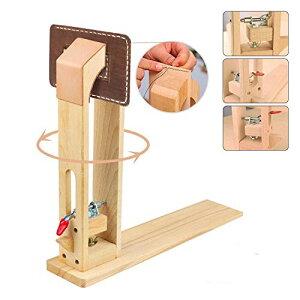 Yiteng レーシングポニー レザークラフト 工具 ステッチングツリー 革 手縫い 木製 折り畳み式 360度回転可能 細工 道具 縫製キット