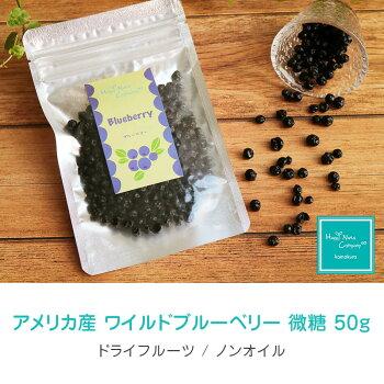 ハッピーナッツカンパニーアメリカ産ワイルドブルーベリー微糖50g