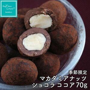 チョコレート 季節限定商品 マカダミアナッツ チョコ70g  ハッピーナッツカンパニー