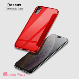 iPhonexr ケース スマホケース 半透明 手帳 iPhonexs ケース iPhoneXs Max Touchable Case 薄型 スリム 軽量 アイフォンxrケース TPU 強化ガラスフィルム内蔵 覗き見防止 アイホンxr ケース アイフォンxsケース Baseusケース ベセス
