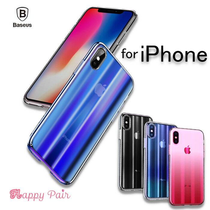 【ガラスフィルム付き】iPhone xs max ケース iPhone xs ケース iPhone XR ケース スマホケース CD紋 ハードケース クリアケース 薄型 スリム 軽量 アイフォンXs 透明 アイフォンXr おしゃれ Baseus Aurora Case