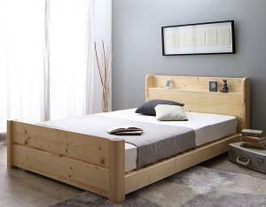 すのこベッド セミダブル マットレス付き 薄型軽量ポケットコイル 6段階高さ調節 頑丈天然木ベッド セミダブルベッド