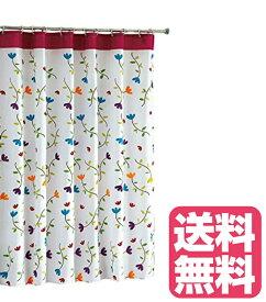 シャワーカーテン フラワー(花柄) 180cm×180cm 花柄シャワーカーテン フラワーシャワーカーテン 花のシャワーカーテン
