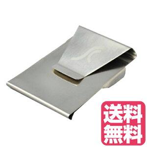 ステンレスマネークリップ&カードホルダー マネークリップ スマート シンプル デザイン 一個入れ シルバー 財布 MONEY CLIP メンズ 財布 カード お札入れ カード入れ スリム 大容量 ダブルサイ