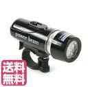 送料無料 取り外しが簡単 LED 自転車用LEDライト LEDヘッドライト とても明るい LED5個使用 フラッシュ&ビームのライトで切り替え power be...