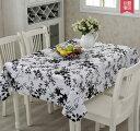 選べる北欧柄テーブルクロス137×180m ビニール素材で防水撥水もバッチリ インテリアにも最適 (モノトーン柄)