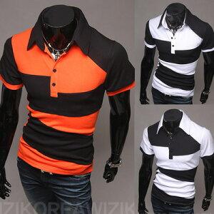 ゴルフウェア メンズ ポロシャツ 半袖 デザイン 2色...