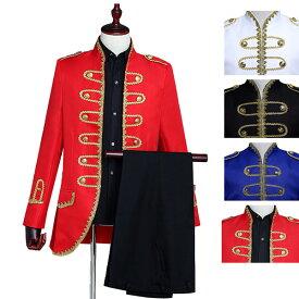 ゴシック 王子様 タキシード 大人用 公爵 宮廷服ジャケット 小さいサイズ 舞台 ステージ衣装 男性 忘年会 オペラ声楽 豪華 公爵様スーツ 宮廷衣装 中世 貴族 衣装 コートd9266f0f0h2 XS/S/M/L/XL