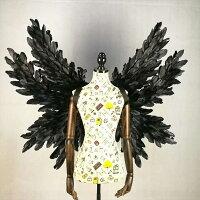 コスプレ道具翼ブラック天使の翼妖精天使の羽ファッションショーパーティーグッズ撮影cosplay用コスプレCOSPLAYコスチュームla133h2h2h2/代引不可02P09Jul16
