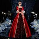 貴婦人 貴族 ドレス 中世ヨーロッパ お姫様 女王様ドレス ロングドレス カラードレス 豪華なドレス ステージ衣装 舞台…