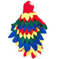クリスマスハロウィン女の子コスプレ動物子供キッズオウムコスチュームぬいぐるみ仮装着ぐるみパーティー親子舞台衣装演出学園祭文化祭イベント前ファスナーオールインワンeb002x1x1l6