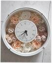 *花時計*ホワイトデーにいかが?ディズニーシー★ダッフィー&シェリーメイがついた時計丸。掛け時計としても、置時計としてもつかえます。プレゼントにおすすめ!プリザ...