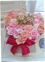 送料無料!お花はそのときにより変わりますプリザーブドフラワーケーキリングピロー☆ディズニー☆ダッフィー&シェリ…