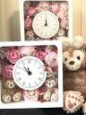 **人気!送料無料!お誕生日にいかが?ディズニーシー★ダッフィー&シェリーメイがついた時計。掛け時計としても、置時計としてもつかえます。プレゼントにおすすめ!アーティフィシャルフラワー 母の日