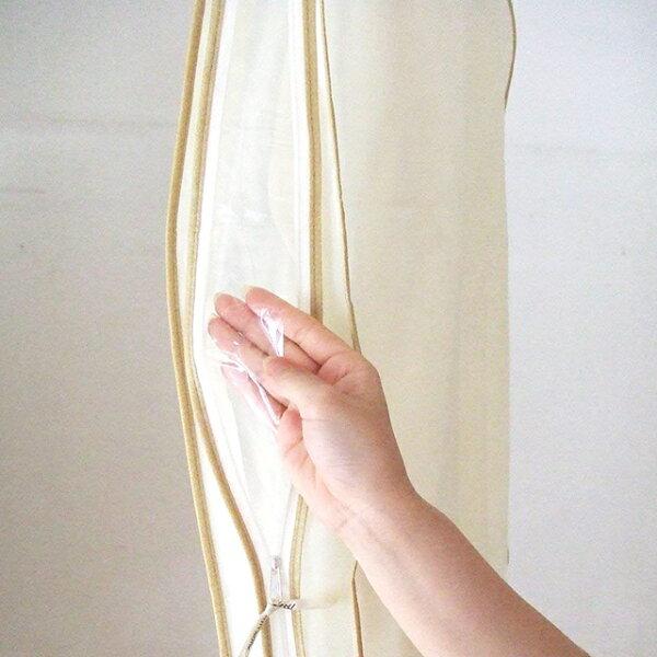 今日のポイント10倍★ムートンに最適!不織布洋服カバーサイドファスナー衣装カバーマチ有・ジャケット用(3枚組)