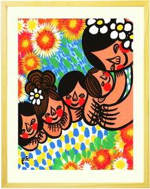 アジアン 絵画 インテリア 「笑顔の花が咲きますように」■Lサイズ・ポエム■リビングに飾る絵画 癒し プルメリア バリ島 南国 アートポスター アジアン雑貨 インテリア雑貨 癒しグッズ リビング 部屋 家族へ感謝 優しい