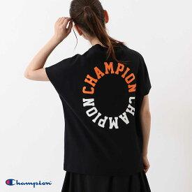 【Champion】ウィメンズ スリーブレスTシャツ 20SS 【春夏新作】チャンピオン(CW-R310) レディース 半袖 カジュアル ロゴプリント Mサイズ Lサイズ ショートスリーブ HAPTIC ハプティック