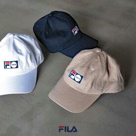 【hbB】【FILA】FLH TOKYO LABEL LOW CAP フィラ 東京レーベル ローキャップ(113751) レディース 帽子 カジュアル ロゴ HAPTIC ハプティック
