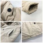 フード付中綿ジャケットレディースアウター軽量フーディーボリュームHAPTICハプティック