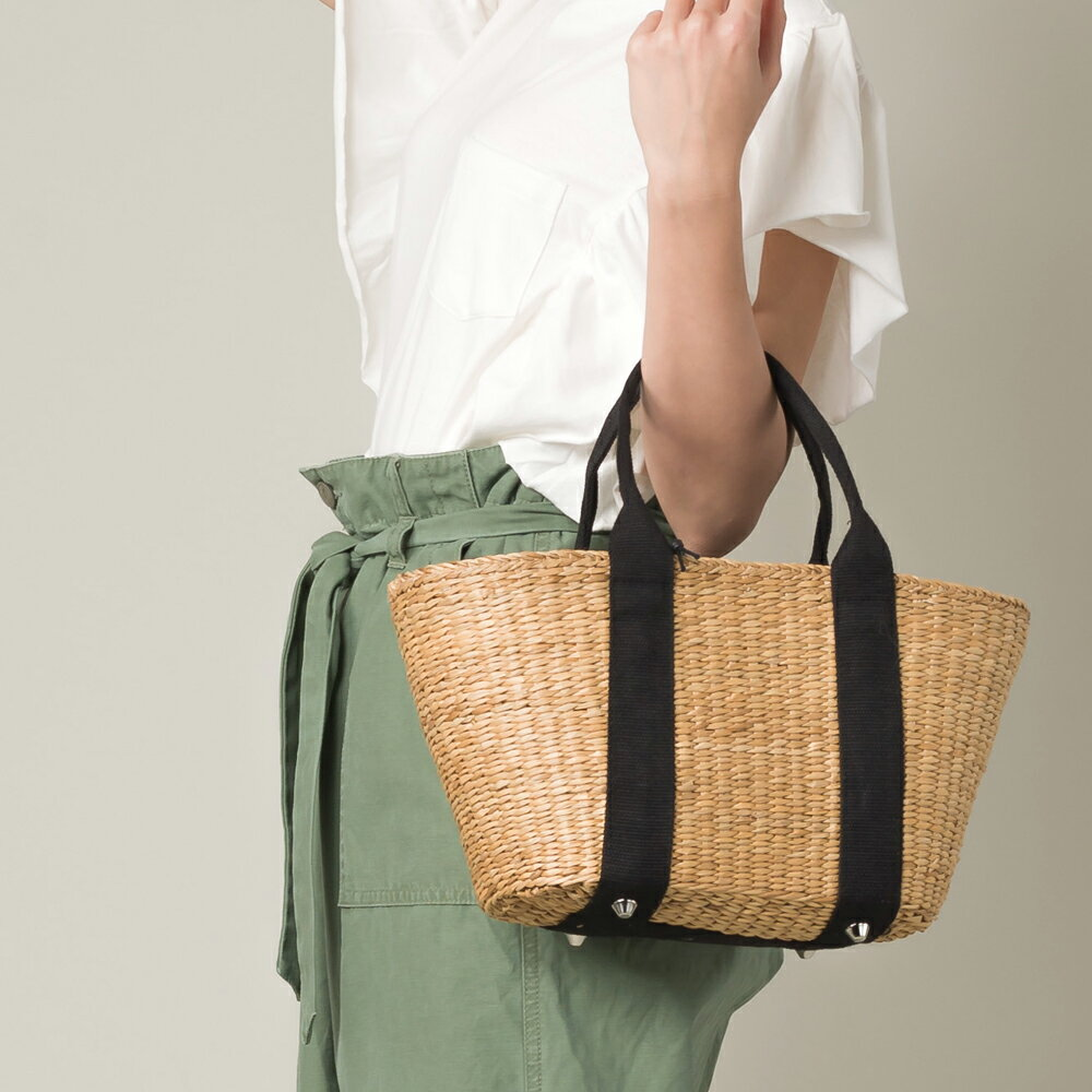 【nina fina】かごバッグ Mサイズ レディース バッグ カゴバッグ 籠バッグ 小物 BAG 手提げ ハンドメイド 巾着 ハンドバッグ HAPTIC ハプティック