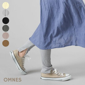 【OMNES】スリット入りリブレギンス レディース フリーサイズ ウエストゴム 伸縮性 タイツ スパッツ 10分丈 パンツ HAPTIC ハプティック