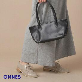【OMNES】パテントレースアップシューズ 靴 シューズ レディース オックスフォードシューズ フラットシューズ レインシューズ おじ靴 PUレザー ブラック ベージュ ホワイト HAPTIC ハプティック