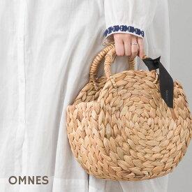 カゴ バッグ 小物入れ インテリア 手作り 手編み【OMNES】ウォーターヒヤシンス サークルカゴバッグ バスケットHAPTIC ハプティック