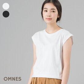 レディース Tシャツ 2枚組 綿 プレミアムコットン Sサイズ Mサイズ【OMNES】2枚組プレミアムコットンノースリーブTシャツHAPTIC ハプティック