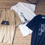ユニセックス-byRYOJIOBAT×OMNESプリント半袖Tシャツリョウジオバタコラボレディースメンズカジュアル手書きイラストHAPTICハプティック