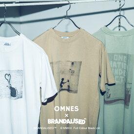 ユニセックス BRANDALISED×OMNES プリント半袖Tシャツ バンクシー Banksy フォトT アートプリント レディース メンズ カジュアル HAPTIC ハプティック 敬老の日