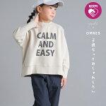 【yuki×HAPTIC】OMNESキッズ裏毛スウェットプルオーバーROOMコラボロゴバックラベル子ども服子供服カジュアル男の子女の子ユキ×ハプティック