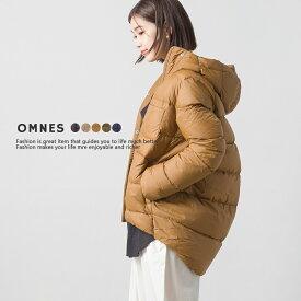 【OMNES】フード付きコクーンダウンジャケット レディース ダウンコート アウター 軽量 カジュアル 防寒 秋冬HAPTIC ハプティック