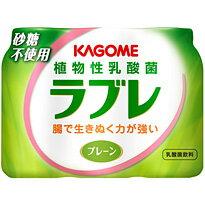 カゴメ 植物性乳酸菌ラブレ プレーン80ml×3p 6個入り