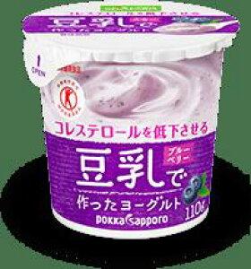 ソヤファーム 豆乳で作ったヨーグルトブルーベリー果肉入り 110g 12個入