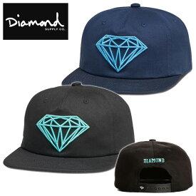 Diamond Supply Co./BRILLIANT UNCONSTRUCTED SNAPBACK(ダイヤモンドサプライ/平ツバスナップバックキャップ)【D17DMHA07/ダイアモンド/スケーター/スケート/スケボー/ストリート/ブランド/帽子/フリーサイズ】【11,000円以上で送料無料】