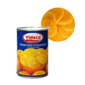 ビデカ オレンジスライス皮無 425g 製菓 製パン トッピング デコレーション フルーツ シロップ漬け おうちカフェ おうち時間 巣ごもり トッピング 本格 缶 オレンジ 輪切り カット