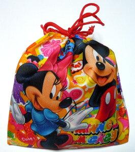 駄菓子詰め合わせ ディズニー カラフル 巾着袋入り 100A イベントの景品 プチギフト お菓子 プレゼント ハロウィン クリスマス 100円