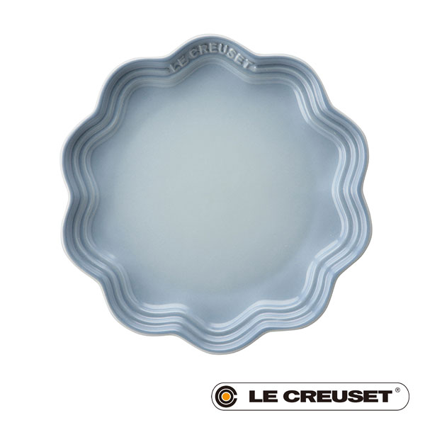 ル・クルーゼ LE CREUSET ストーンウェア フリル・プレート ベーカリー 18cm コースタルブルー Stoneware lecsto 18 ベーカリー 限定