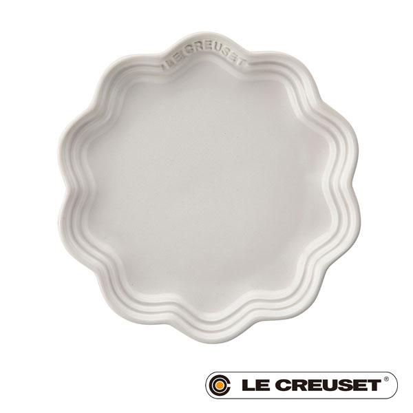 【 全品10%OFFクーポン 】 ル・クルーゼ LE CREUSET ストーンウェア フリル・プレート ベーカリー 18cm ホワイト Stoneware lecsto 18 ベーカリー 限定