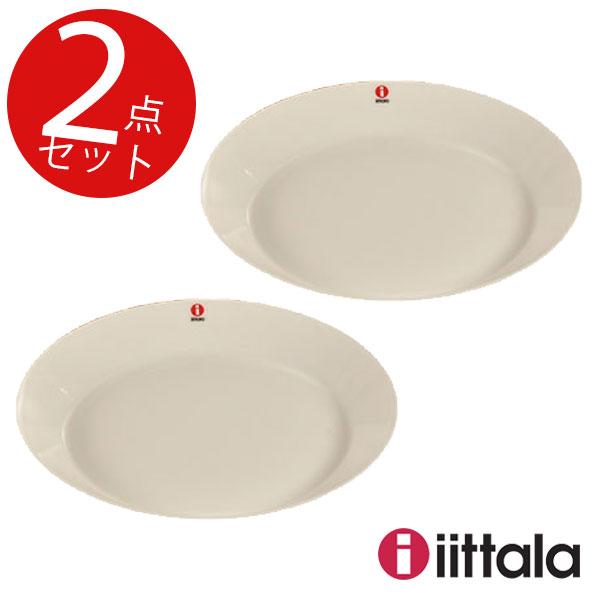 【BR1】イッタラ(ティーマ) フラットプレート ホワイト 17cm 2枚セット