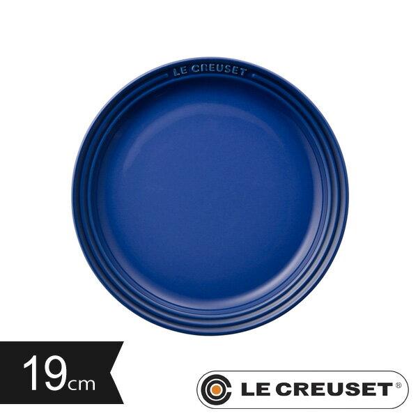 ルクルーゼ ストーンウェア ラウンド・プレートLC 19cm コバルトブルー Stoneware lecsto LE CREUSET 【ギフト袋 対象】